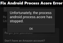 Fix Android Process Acore Error