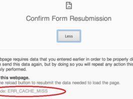 Fix ERR_CACHE_MISS in Google Chrome