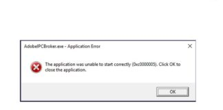 Application was unable to start correctly 0xc0000005