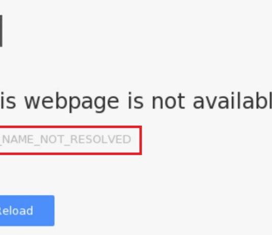 Err_NAME_NOT_RESOLVED Error in Chrome
