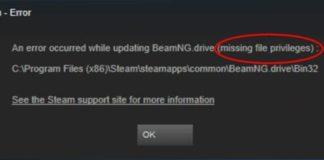 Steam Missing File Privileges Error