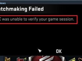 VAC Was Unable to Verify the Game Session Error in CSGO