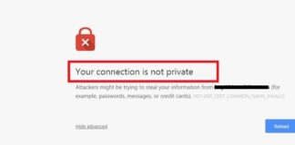 Your Connection is Not Private in Chrome