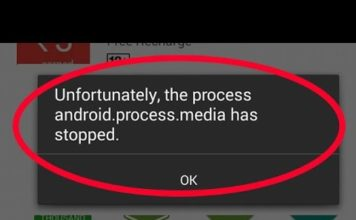 Android.Process.Media Has Stopped Error