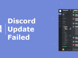 Discord Update Failed