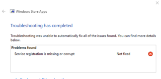 Fix Service Registration is Missing or Corrupt in Windows 10, 8 and 7