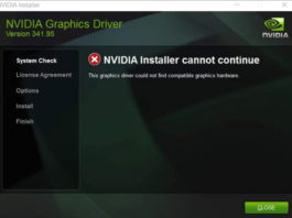 NVIDIA Installer Cannot Continue Error