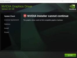 NVIDIA Installer Cannot Continue Error