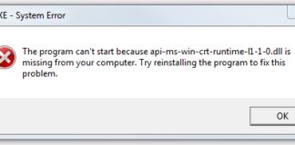 api-ms-win-crt-runtime-l1-1-0.dll is Missing Error