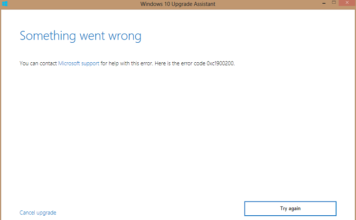 Update Error Code 0xc1900200 in Windows 10